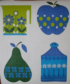 VINTAGE WALLPAPER Fabulous Retro Vintage Wallpaper Pieces.. £7.00, via Etsy.