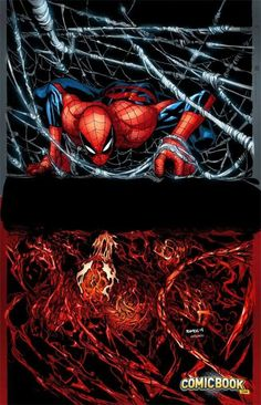 AXIS #4 inversion variant cover - Spider-Man an Carnage by Humberto Ramos, colours by Edgar Delgado *