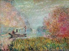 Claude Monet ~ The Boat Studio on the Seine, 1875