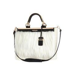 River Island-Cream faux fur tote bag - shopper / tote bags - bags / purses - women