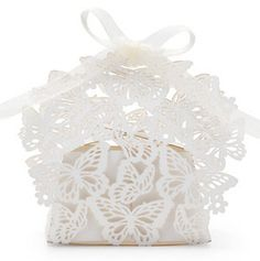 20 Luxe Butterfly Laser wedding favour / favor box & by lisasu, $20.00