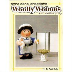 """32 Anne Carol Woolly Wotnots Knitting Pattern The Nurse 12"""" High DK on eBid United Kingdom"""