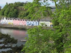 Colourful terraced houses in Portree on the Isle of Skye, Scotland