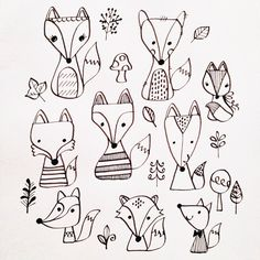 It& a fox thing! Fox doodles by Lisa Jayne Design:- It& a fox thing! Fox doodles by Lisa Jayne Design: It& a fox thing! Fox doodles by Lisa Jayne Design: - Doodle Inspiration, Bullet Journal Inspiration, Doodle Drawings, Doodle Art, Embroidery Patterns, Fox Embroidery, Coloring Pages, Art Projects, Artsy