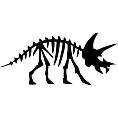 Triceratops Dinosaur Fossil -Large- Vinyl Wall Decal