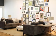 @west elm headquarters and feature on creative director Vanessa Holden // living room // office // gallery wall
