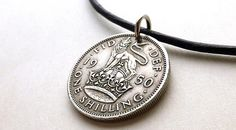 Coin necklace English necklace Coin jewelry Coins Vintage