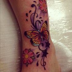 butterfly Tattoo Cover UPS | coverup butterfly on foot by jerrrroen traditional art body art body