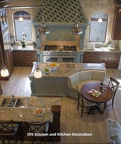 Exciting Farmhouse Kitchen Island Decor Ideas – MY World Diy Kitchen Remodel, Diy Kitchen Cabinets, Kitchen Flooring, Kitchen Countertops, Kitchen Remodeling, Marble Countertops, Kitchen Paint, Farmhouse Kitchen Island, Kitchen Island With Seating