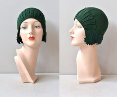 felted wool 20s cloche
