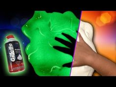 How To Make Fluffy Slime that Glows in the Dark! All you need is Elmer's PVA glue, shaving cream, glow in the dark paint, and contact lens solution! No black. Slime With Elmers Glue, Borax And Glue, Fluffy Slime Recipe, Making Fluffy Slime, Foam Slime, Diy Slime, Slime Without Contact Solution, Glow In Dark Slime, Slime With Shaving Cream