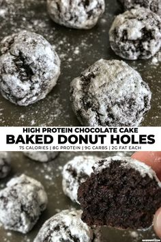 Now you can have your chocolate cake donuts and eat them, too! Each one of these high protein, low carb baked donut holes packs all the moist goodness of chocolate cake into a bite size donut.