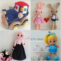 amigurumi kursu, amigurumi yapmayı öğrenin, amigurumi öğreniyorum, Plushies, Teddy Bear, Dolls, Children, Crochet, Fabric, Cute, Instagram Posts, Handmade