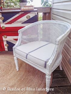 cane barrel chair makeover - Google Search