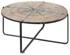 Rustic Wooden Compass Rose Coffee Table | Nautical Luxuries Nautical Compass, Nautical Home, Nautical Coffee Table, Hawaii Homes, Outdoor Tables, Outdoor Decor, Compass Rose, Beach House Decor, Home Decor
