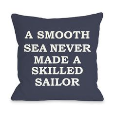 Smooth Sea Pillow, $39, now featured on Fab.