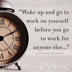 regram @jasonokuma It's the work you do before the work day starts that will get you to where you want to be in life!  For all most all of you the work you do between 9 to 5 will never give you the greatest sense of fulfilment let alone get you into your dream car house relationship or the financial position you wish for every time a new bill comes in the mail.  It's the work you do on yourself and for yourself that will drive you to your dreams your goals and a truly fulfilling lifestyle…