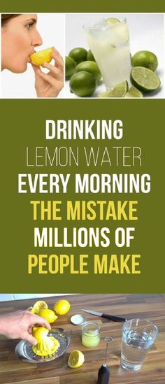 Drink Lemon Water Ev