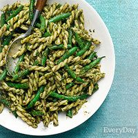 Pistachio-Citrus Pasta with Green Beans and Gemelli (Rachael Ray)