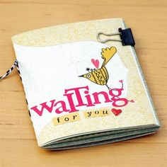 A mini book made out of just one 12x12 sheet-   Fancy Pants Designs - Be You - Cards