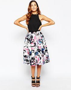 Warehouse Statement Floral Midi Dress