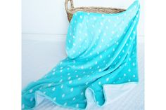 Kids plush blanket hand made by Kinderly - Colby plush blanket - Turquoise