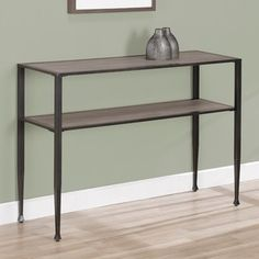 @Overstock - The look of reclaimed oak wood is featured on this expanded-storage, two-shelf sofa table in a weathered http://www.overstock.com/Home-Garden/Shuffle-Sofa-Table/6434391/product.html?CID=214117 $139.99