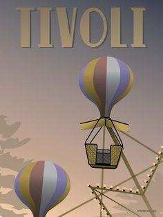 Tivoli poster with the ferris wheel vissevasse