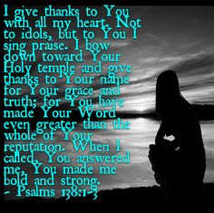 Psalm 138:1-3