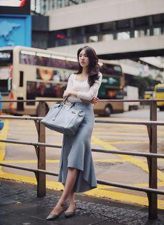 2016 – täglich femininer und stilvoller Look (MT) - Outfit. Minimalist Fashion Women, Fashion For Petite Women, Black Women Fashion, Curvy Fashion, Asian Fashion, Womens Fashion, Fashion Trends, Fashion Top, Cheap Fashion