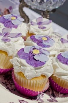 Fairy Cupcakes with beautiful white frosting