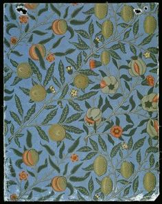 'Fruit' (or 'Pomegranate') wallpaper, by William Morris, 1866.