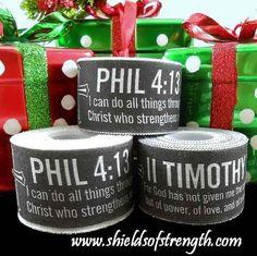 NEED!!!- Black Athletic Tape Phil 4:13/II Tim 1:7 #70024