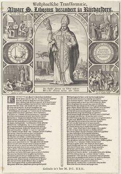 De wonderlijke transformatie van de H. Liborius tot rijksdaalders, 1622, Claes Jansz. Visscher (II), 1622