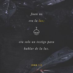"""No era él la luz, sino para que diese #testimonio de la #luz."" #S.Juan 1:8 RVR1960 http://bible.com/149/jhn.1.8.rvr1960"