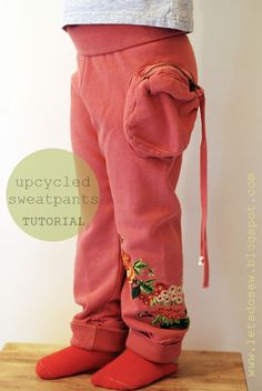 let's do sew: ---- Upcycled Sweatpant -- Tutorial ---- Making trackies from my old hoodies for the kids?