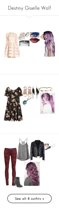 """""""Destiny Giselle Wolf"""" by hurt-girl ❤ liked on Polyvore featuring Aidan Mattox, Forever 21, LORAC, Paul Frank, Valentino, Paige Denim, RVCA, Dorothy Perkins, Pamela Love and Zoe Karssen"""