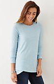 petite crossed-hem knit top   J.Jill