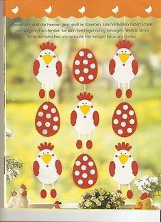 Fensterbilder - Frühling & Ostern! - Comatus Coprinus - Picasa Web Albums Easter Art, Bunny Crafts, Easter Crafts For Kids, Summer Crafts, Chicken Crafts, Classroom Crafts, Easter Holidays, Art For Kids, Christmas Crafts