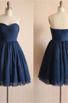 Navy Tulle Homecoming Dress,Prom Dress,Graduation Dress,Party Dress,Short Homecoming Dress,Short Prom Dress,Homecoming Dress 2016