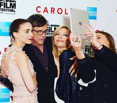 So guys, selfie time! #RooneyMara #ToddHaynes #CateBlanchett #Carol #CarolMovie