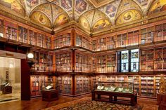 The Morgan Library & Museum (formerly The Pierpont Morgan Library) is a museum and research library in New York City, USA. It was founded to house the private library of J. Morgan in which included, besides the manuscripts and printed books, some Nyc Library, Morgan Library, Library Books, Dream Library, Library Design, New York In March, Jüdisches Museum, New York City, Zoo 2