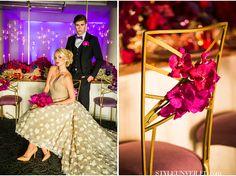 Radiant Orchid Wedding Inspiration / Striped Wedding Ideas / D. Park Photography  / via StyleUnveiled.com