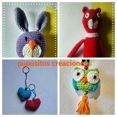 Muñecos y llaveros crochet