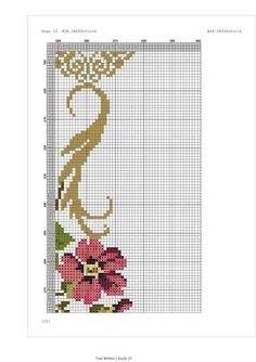 Cross Stitch Rose, Cross Stitch Flowers, Prayer Rug, Rugs, Crochet, Ideas, Tablecloths, Cross Stitch Embroidery, Farmhouse Rugs