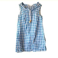 Zimmermann Check Sundress Perfect for those sunny days or as a cover up at the beach! Rope tie at front. Side pockets. Size 1 - US 2. Excellent condition. Zimmermann Dresses Mini