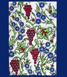 İznik Çandar Çini | Ürünler g Pottery Patterns, Tile Art, Porcelain Tile, Floral Tie, Ceramics, Beauty, Painted Porcelain, Ceramica, Pottery
