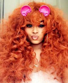 Weave Hair Color, Peach Hair, Weave Hairstyles, Hair Goals, Black Women, Braided Hairstyles, Peach Hair Colors, Dark Skinned Women