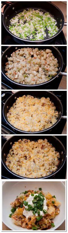Loaded Chicken & Potato Skillet