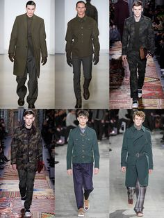 Men's Military Pieces and Camouflage Print On The Autumn/Winter 2014 Menswear Runways